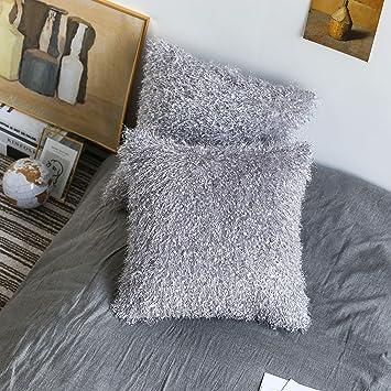 Amazon.com: Kevin Funda de cojín de terciopelo textil macizo ...