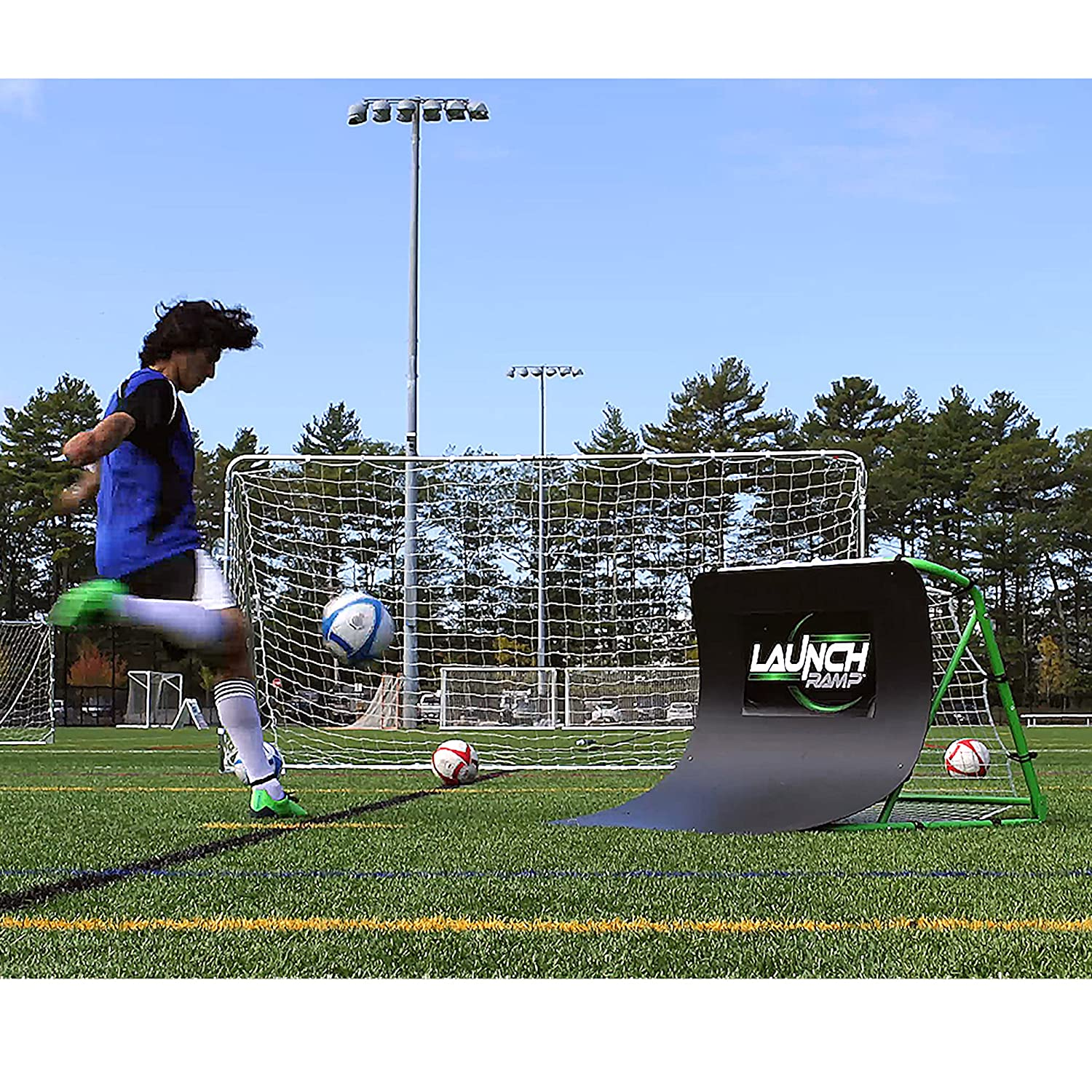 amazon com franklin sports launch ramp soccer trainer sports