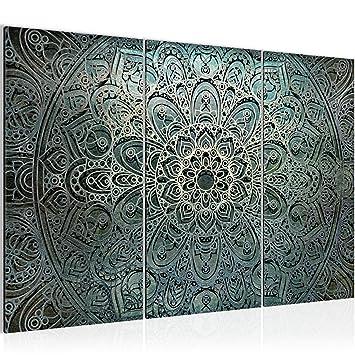 Bilder Mandala Abstrakt Wandbild 120 x 80 cm Vlies - Leinwand Bild ...