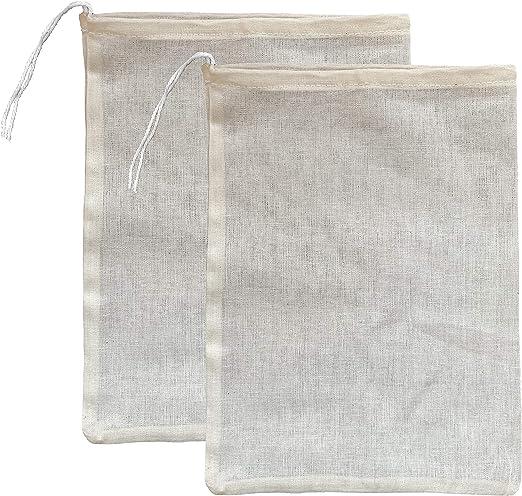 Bolsas de algodón orgánico premium para estampar leche de almendra, yogur, zumo, tamaño mediano común de