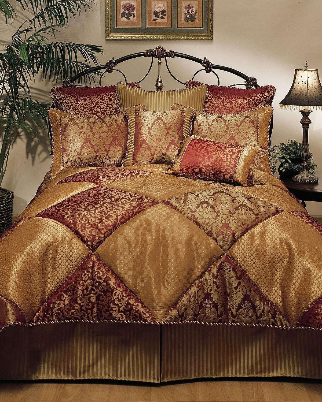 Amazon.com: Sherry Kline 8-Piece Chateau Royale Comforter Set, Queen ...