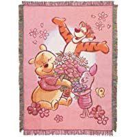Disney's Winnie The Pooh, All My Friends Woven Tapestry Throw Blanket