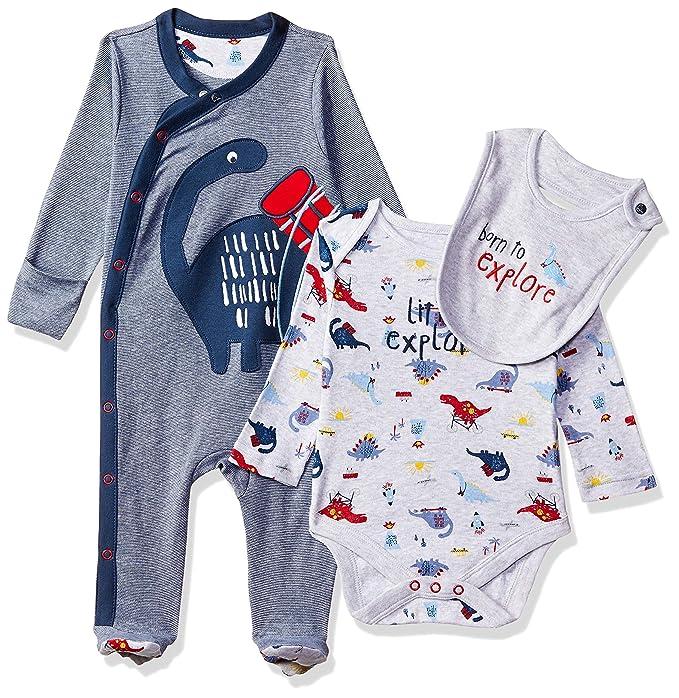 4c52c2d1 Mothercare Baby Boys Little Explorer 3-Piece Set Clothing Set, Multicolour  (Brights Multi