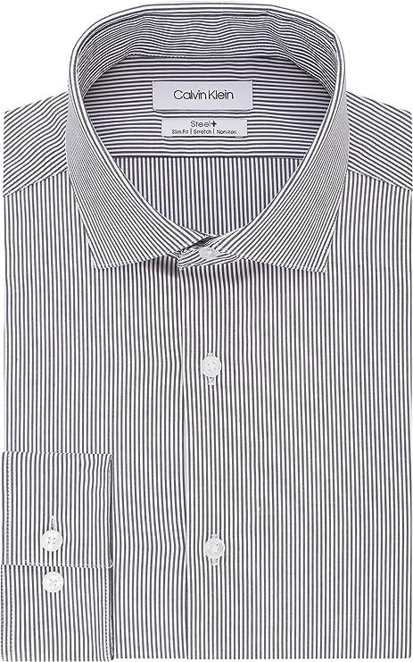 Calvin Klein - Camisa de vestir para hombre, sin plancha ...