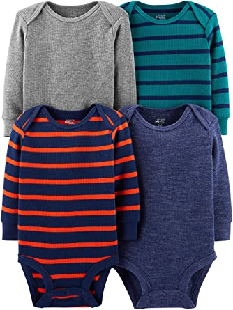 0bcad821fd14 Amazon.com  Simple Joys by Carter s Baby Boys  4-Pack Soft Thermal ...