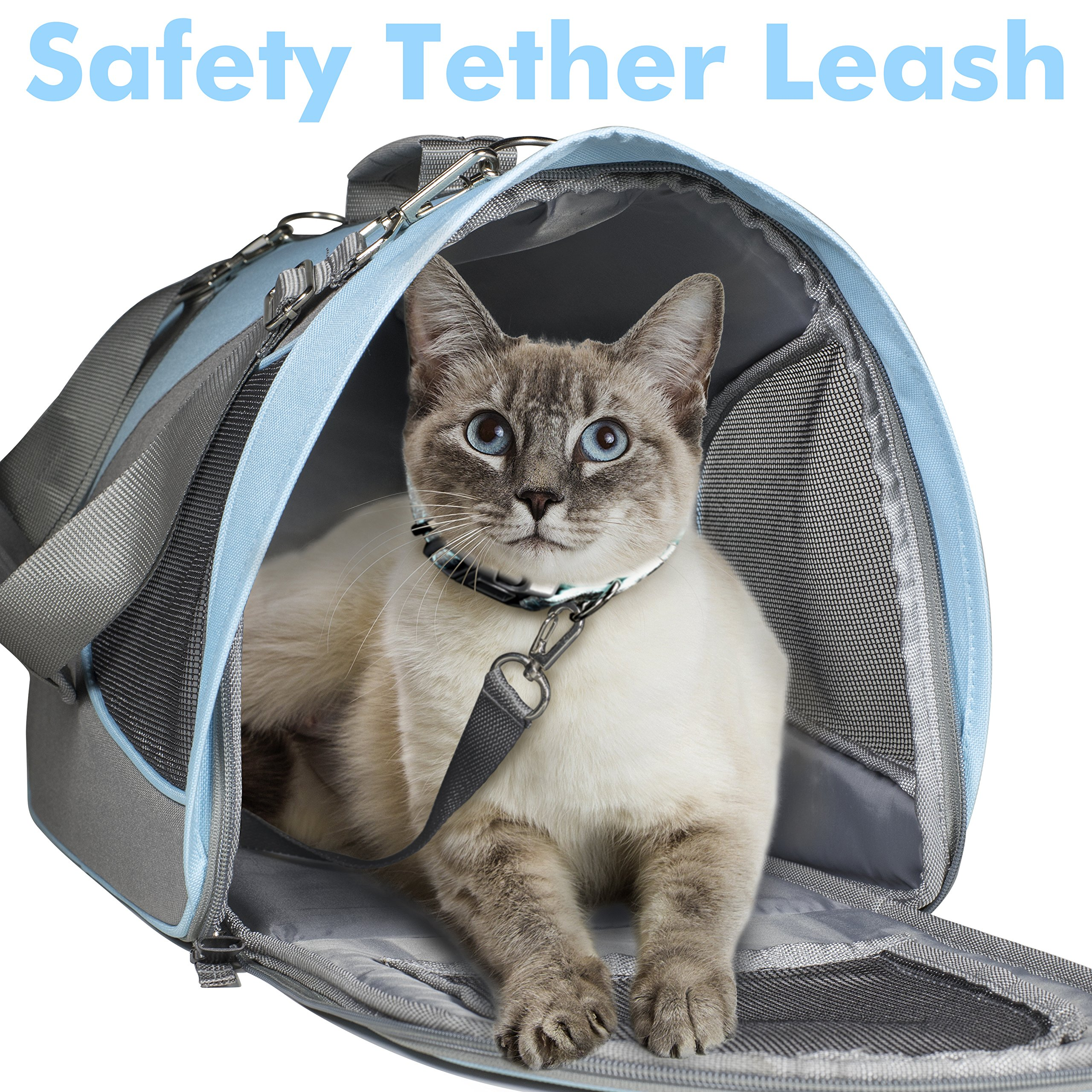 Airline Approved Pet Carrier for Cats, Small Dogs - Soft Cat Carriers Dog Travel Bag for Small Medium Large Cat by Friends Forever (Image #3)