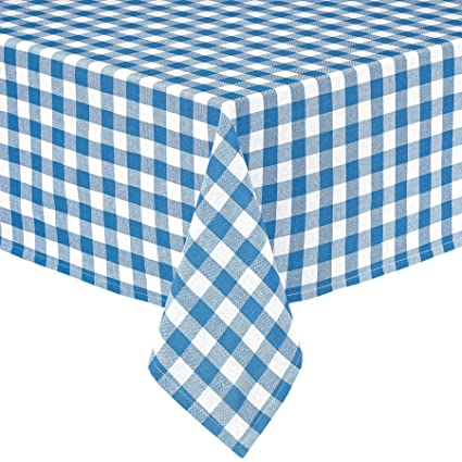 Superbe Lintex Buffalo Gingham Check Indoor/Outdoor Casual Cotton Tablecloth,  Buffalo Plaid 100% Cotton
