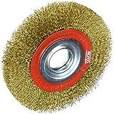 Alyco 197602 métallique Brosse circulaire pour touret 150 mm