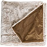 """Stone & Beam Faux Fur Throw Blanket, Soft and Luxurious, 80"""" x 60"""", Chocolate Brown"""