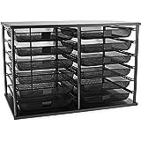 Rubbermaid 1735746 12-Compartment organizer, 7-1/8w x 29-1/8d x 16-3/8h