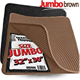 "Jumbo Size Cat Litter Trapper by iPrimio - Litter Mat, EZ Clean Cat Mat, Litter Box Mat Water Proof Layer and Puppy Pad Option. Patent Pending. (32""x30""Jumbo)"