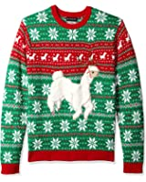 Blizzard Bay Men's Festive Alpaca Crew Neck Ugly Xmas
