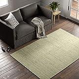 "Amazon Brand – Stone & Beam Contemporary Speckle Wool Area Rug, 5' x 7' 6"", Seafoam"