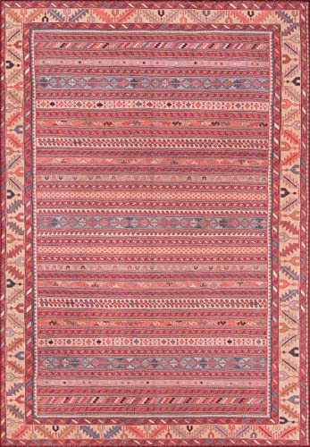 Momeni Rugs Afshar Traditional Tribal Area 7 6 x 9 6 , Multicolor