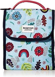 Burton Lunch Sack, Aqua Gray Revel Stripe Print