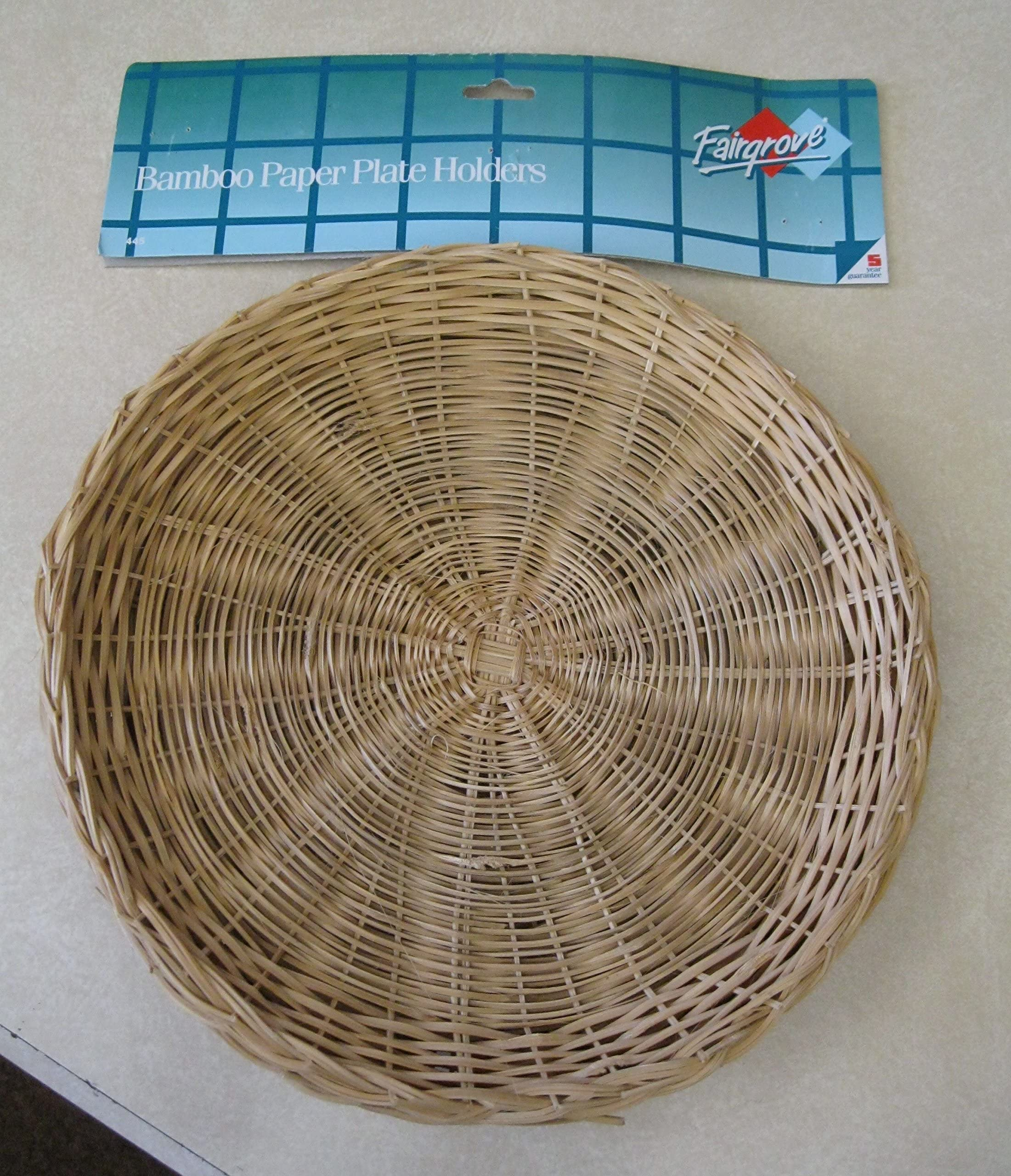 Bamboo Paper Plate Holders Set of 4 & Shop Amazon.com Vertical Plate Holders
