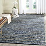 Safavieh Cape Cod Collection CAP363A Hand Woven Blue and Natural Jute and Cotton Area Rug (4' x 6')