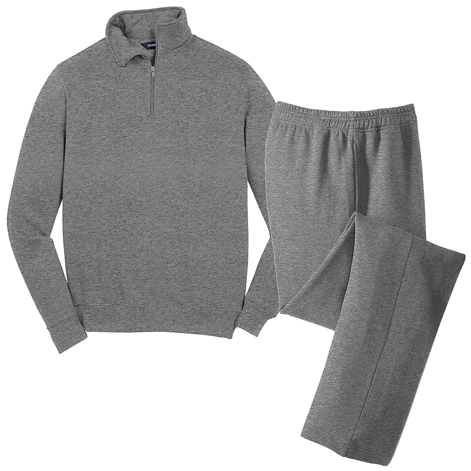 KAMAL OHAVA Men's Cotton Fleece Sweatsuit, Big