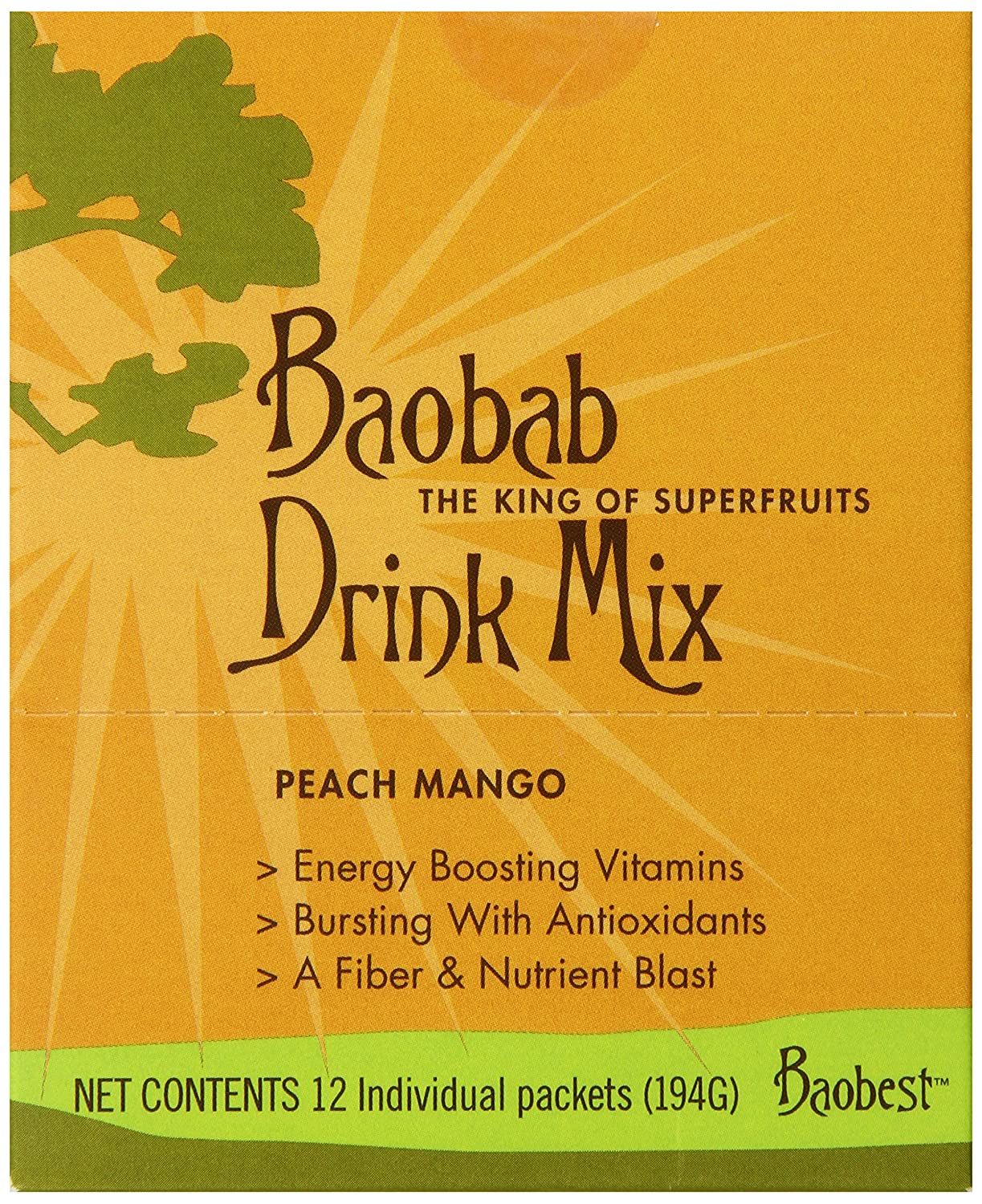 Amazon.com : Baobest Baobab Drink Mix, Peach Mango, 12 Count : Powdered Soft Drink Mixes : Grocery & Gourmet Food