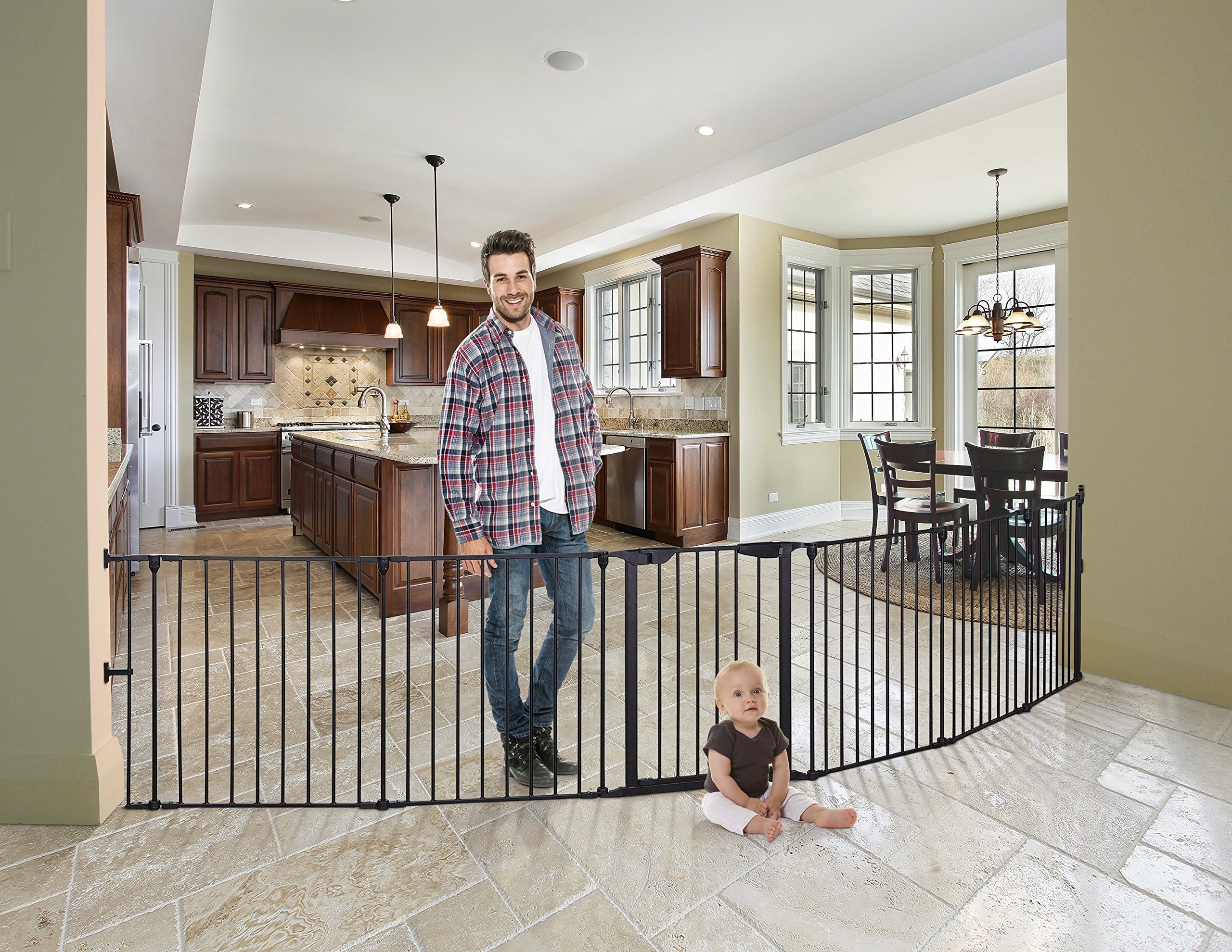 Dreambaby Mayfair Converta 3 In 1 Play-pen 6 Panel Gate, Black by Dreambaby (Image #3)