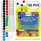 [125 PCS] BEST Chemistry Model Kit has Atom and Bond Pieces For Building Molecular Molecules- Instructional Video included with Student and Teacher Molecule Modeling Kit