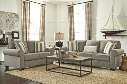 Incroyable Ashley Furniture Signature Design   Baveria Traditional Style Rolled Arm  Sleeper Sofa   Queen Size Mattress