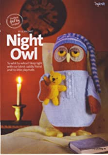 d011ee6dfa4d8 Night Owl by Alan Dart Toy Knitting Pattern  Measurements 10