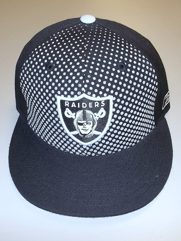 Oakland Raiders Flat Bill Fittedファッションリーボック帽子 – サイズ6 7 / 8 – tg97 K   B00CMD2X9O