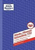 Avery Zweckform 1753 Urlaubs-/Abwesenheitsmeldung (A5, selbstdurchschreibend, 2x40 Blatt) weiß/gelb