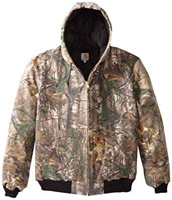 3353c05a Amazon.com: Carhartt Men's Big & Tall Quilted Flannel Lined Camo Active  Jacket: Work Utility Outerwear: Clothing