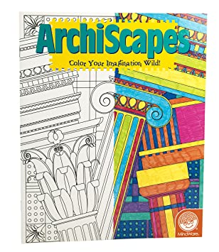 mindware stained glass archiscapes coloring book 23 unique puzzles teaches creativity and fosters - Mindware Coloring Books