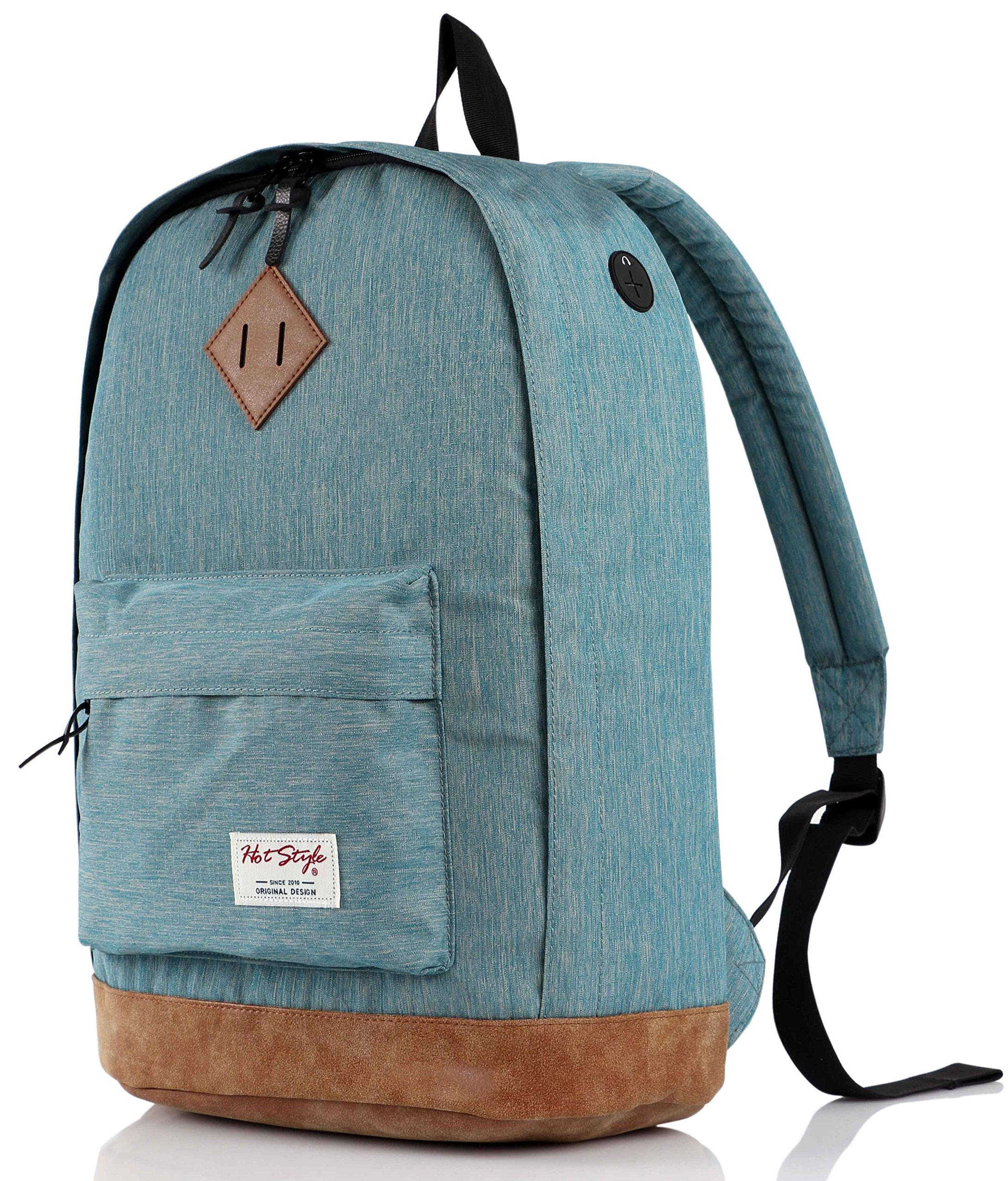 936Plus College Backpack High School Bookbag, LightTurquoise by HotStyle