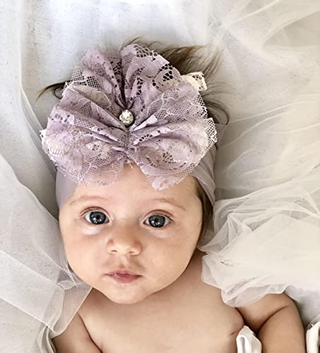 Handmade Green Baby Girl Headband best for 0-12 month old 05e95115a9c
