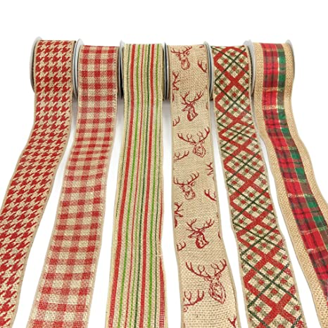 christmas wired ribbon for gift wrap florist craft gift and holiday 30yards 25quot