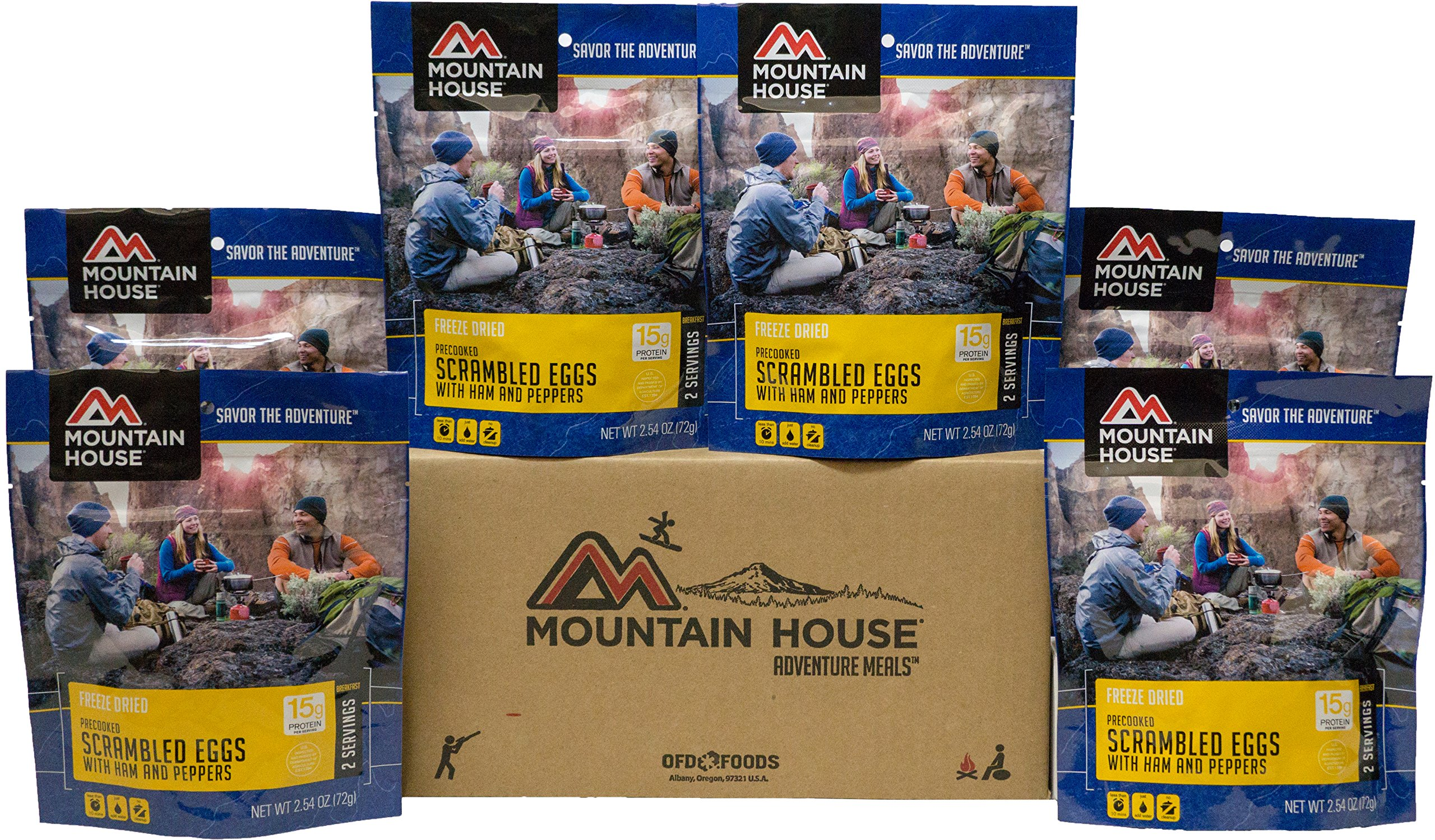 Mountain House Scrambled Eggs with Ham & Peppers 6-Pack by Mountain House