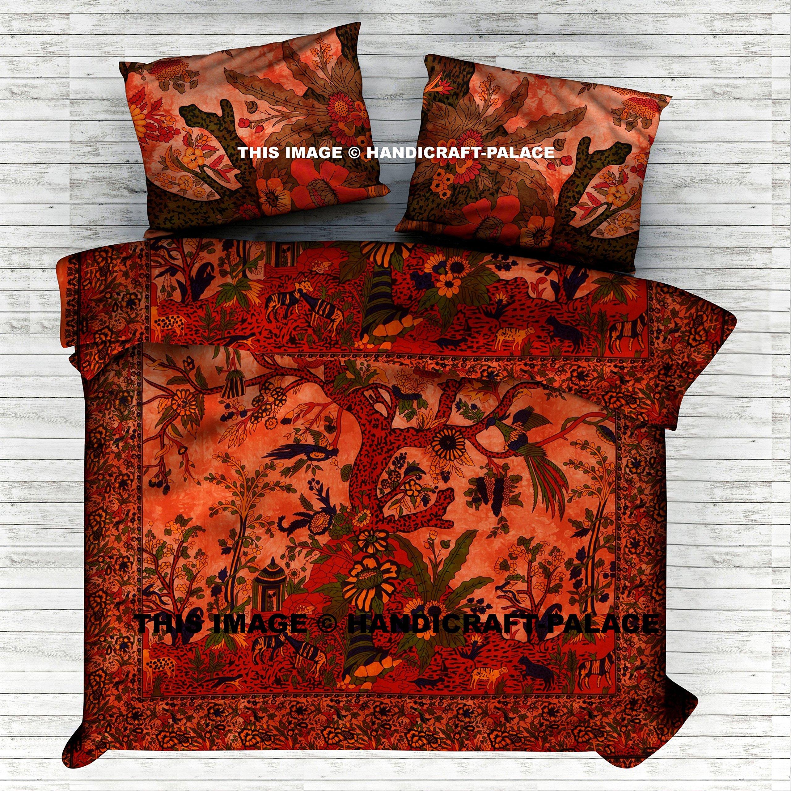 Indian Tree Of Life Duvet Doona Cover Bedding Blanket Queen Quilt Cover Comforter Set By ''Handicraft-Palace'' Indian Mandala Bedding Set