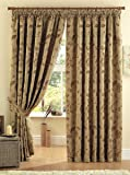 """One pair of Maybury Pencil Pleat (3"""" header) Curtains in Terracotta, Size: 46x54"""" (117 x 137 cm) width x drop"""