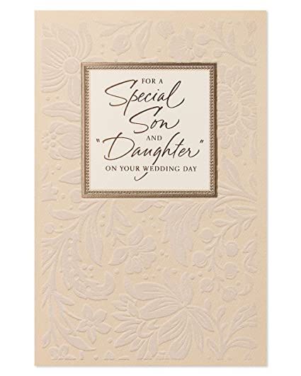 Amazon american greetings son and daughter in law wedding card american greetings son and daughter in law wedding card with foil m4hsunfo
