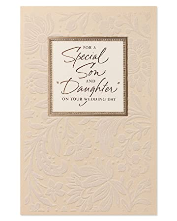 American Greetings Son And Daughter In Law Wedding Card With Foil 5986740