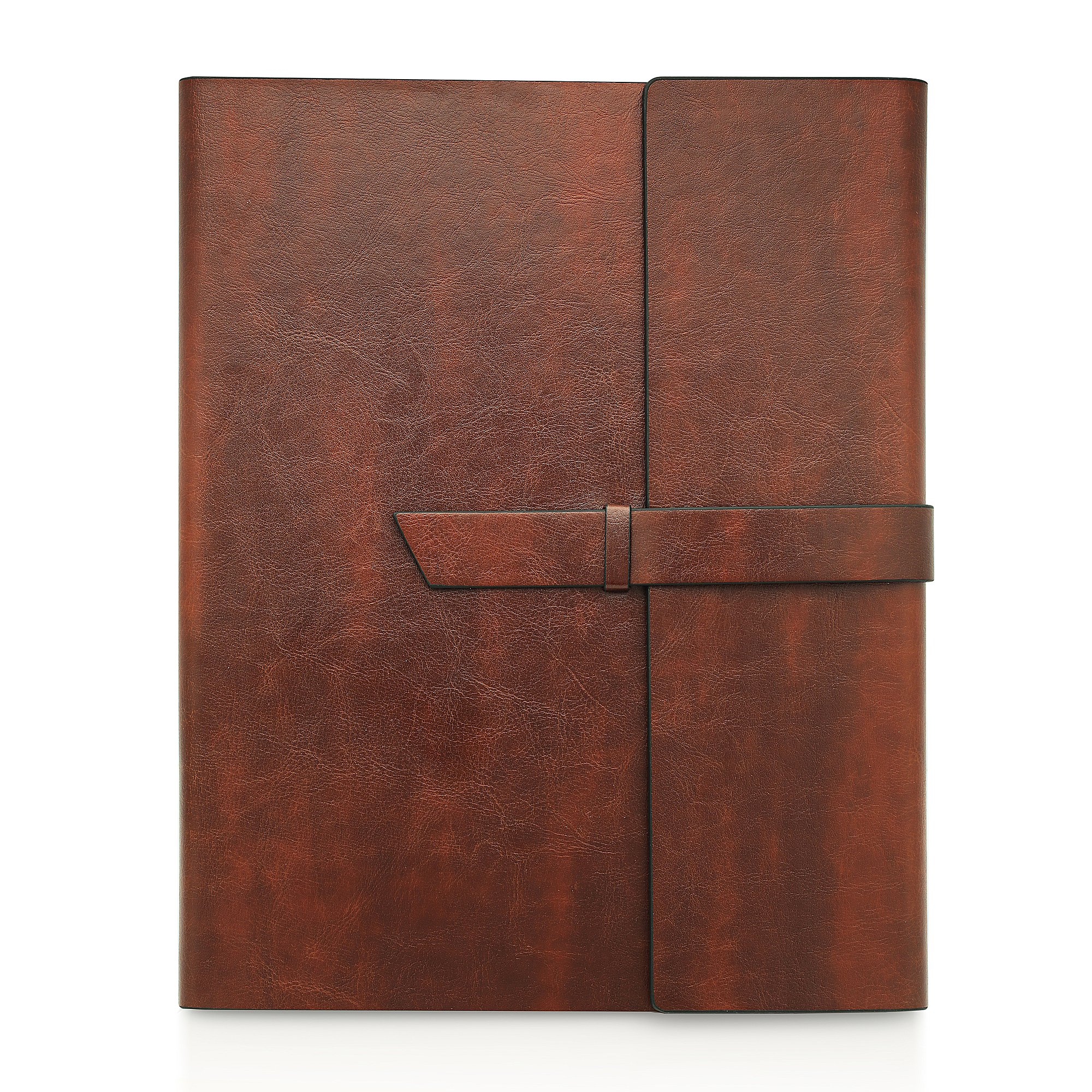 Gallaway Leather Padfolio Portfolio Folder - Perfect for Your Interviews, Resumes, Presentations and Meetings and it fits Letter, Legal, A4 Notebooks and Notepads (Dark Chocolate)