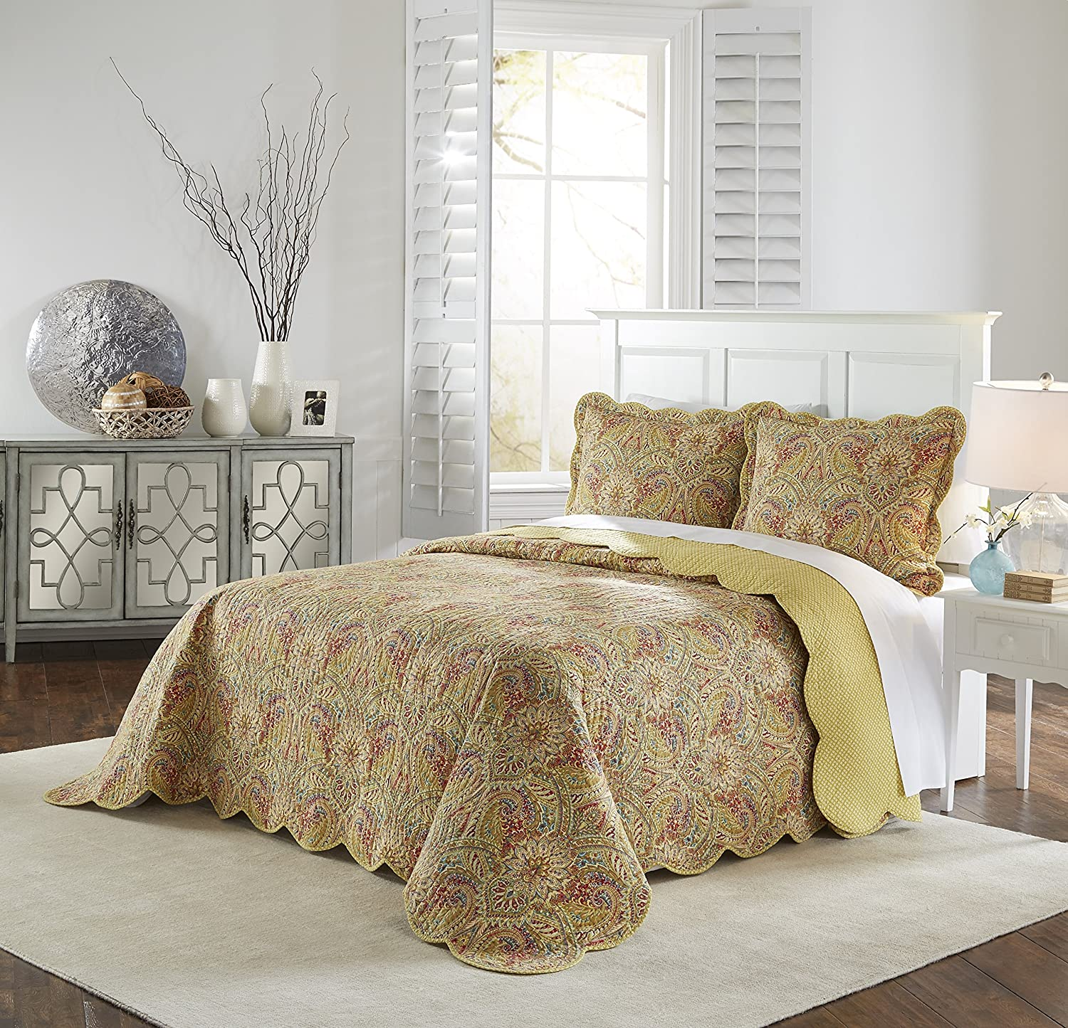 Waverly Swept Away Bedspread Collection, King/Cal King