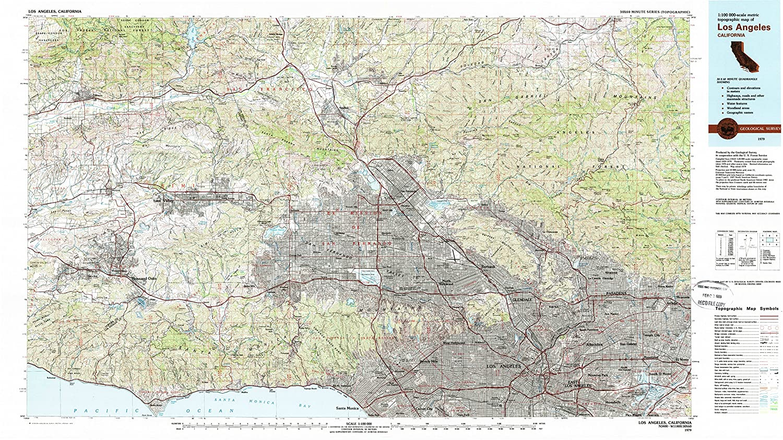 Amazon Com Yellowmaps Los Angeles Ca Topo Map 1 100000 Scale 30