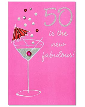 American greetings 50 is the new fabulous birthday card with american greetings 50 is the new fabulous birthday card with rhinestone m4hsunfo