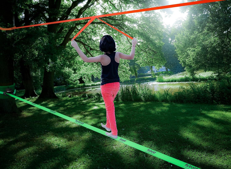 flybold Slackline Kit with Training Line Tree Protectors