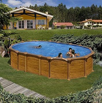 Piscina fuera Terra Gre aspecto madera 610 X 375 X 132 Cm: Amazon.es: Jardín