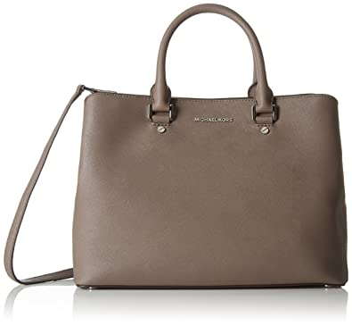Michael Kors Savannah Lg Satchel CINDER: Amazon.es: Zapatos y complementos