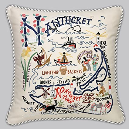 Catstudio Nantucket Pillow   Geography Collection Home Décor 078(CS)