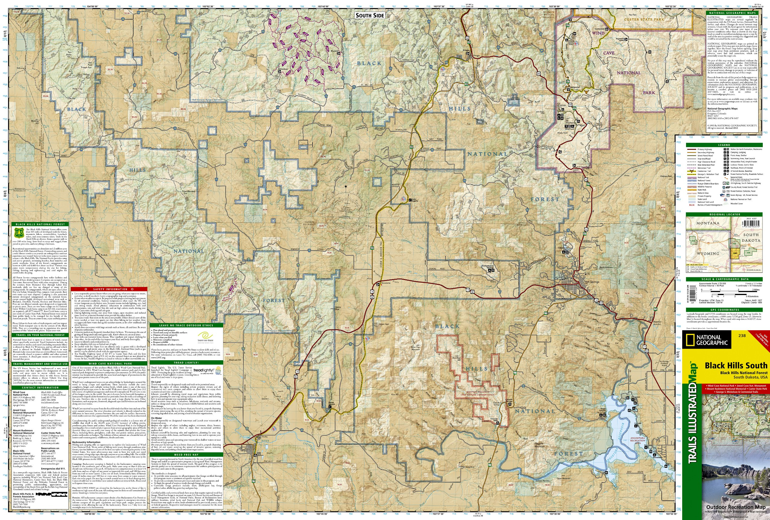Black Hills South [Black Hills National Forest] (National Geographic ...