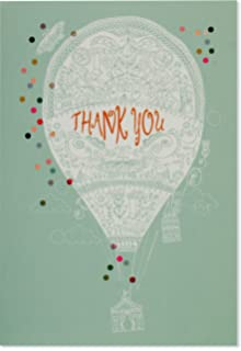 Amazon Com 50 Hot Air Balloon Thank You Cards Red Toys Games