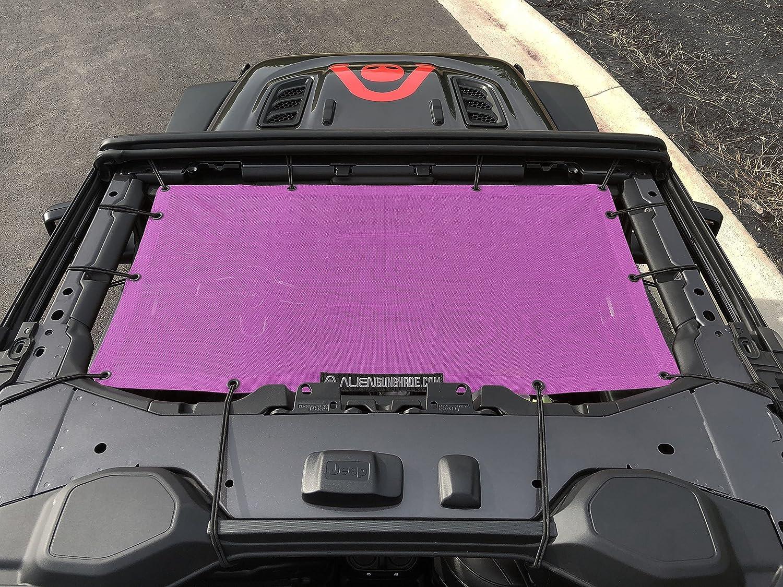 Chocolate ALIEN SUNSHADE Jeep Wrangler JL Front Sunshade Mesh Top for 2018 Jeep Wrangler 2 door or 4-door JL and JLU Unlimited